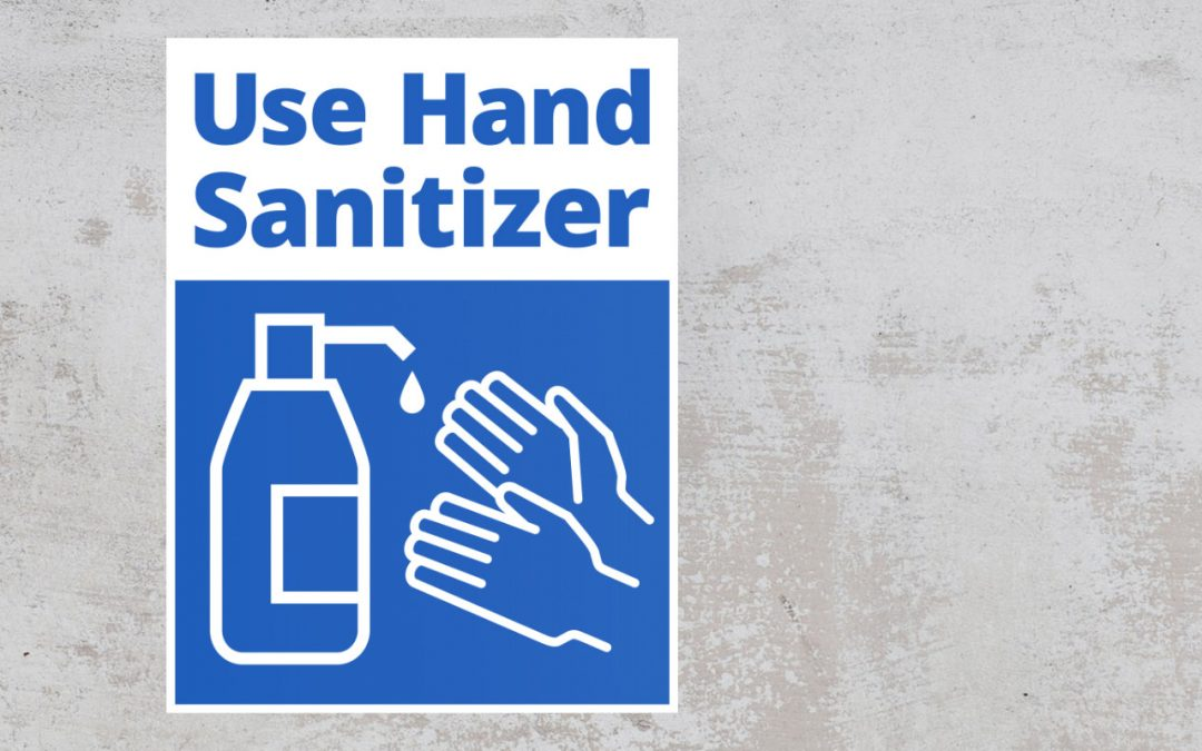 sign use hand sanitizer