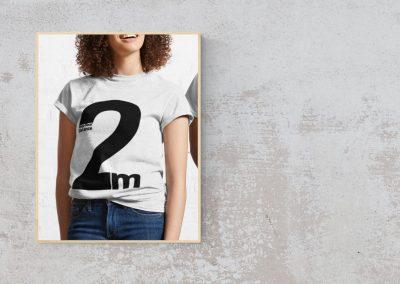 Social Distancing T-Shirt – Keep Your Distance 2 Metres – Classic T-Shirt – Black Print