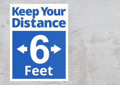 Social Distancing Sign – Keep Your Distance 6 Feet – Sticker
