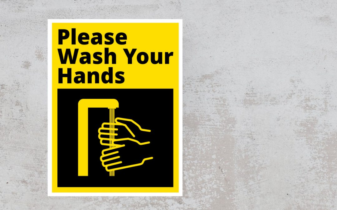 Sign Please Wash Your Hands - Black and Yellow sticker